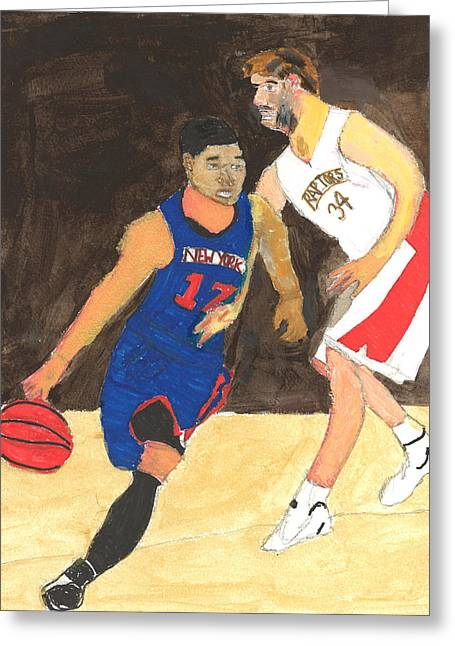 Knicks Greeting Cards - Jeremy Lynn the amazing Greeting Card by Nat Solomon