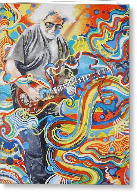 Jerry Garcia Band Greeting Cards - Jerome 8 Greeting Card by Kevin J Cooper Artwork