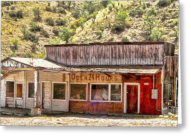 Jerome Arizona - General Store Greeting Card by Gregory Dyer