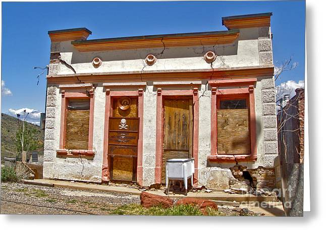 Jerome Arizona - Miner Shack Greeting Card by Gregory Dyer