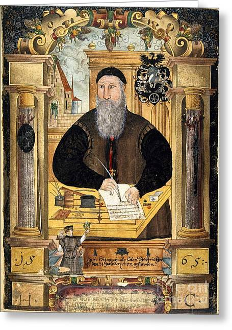 Magistrates Greeting Cards - Jerome Coeler The Elder, German Judge Greeting Card by British Library