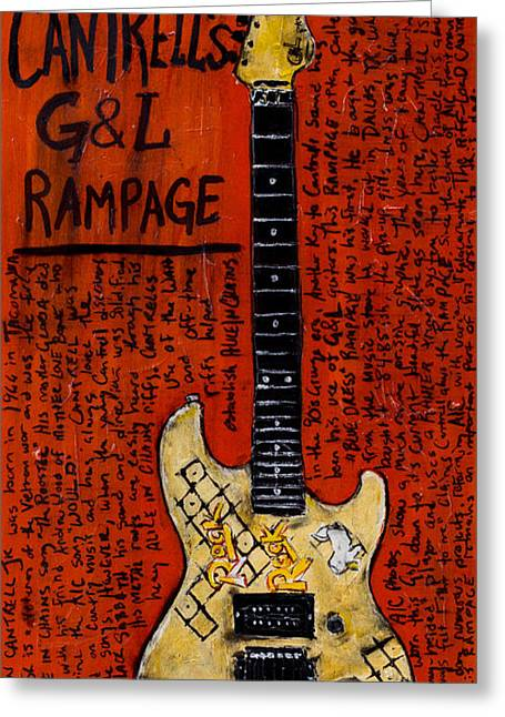 Worn In Paintings Greeting Cards - Jerry Cantrell GnL Rampage Greeting Card by Karl Haglund