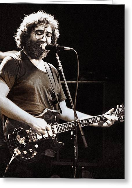 Jerry Garcia Band Greeting Cards - Jerry Garcia 1981 Greeting Card by Chuck Spang