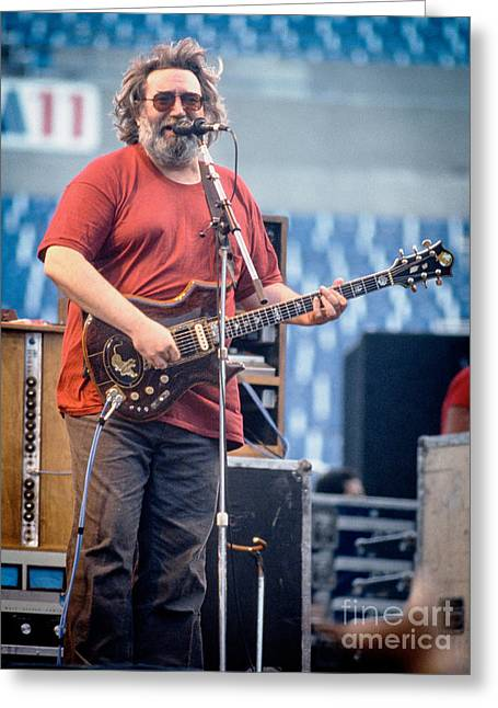Jerry Garcia Band Greeting Cards - Jerry Garcia 1986 Greeting Card by Chuck Spang