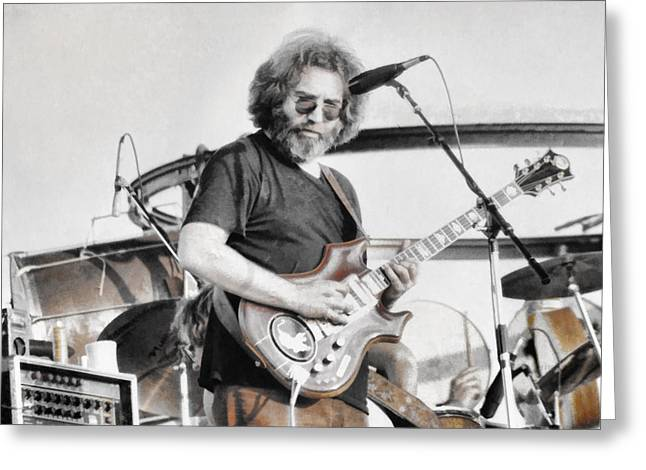 Jerry Garcia Band Greeting Cards - Jerry Garcia Greeting Card by Allan Van Gasbeck