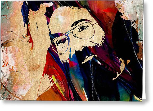 Jerry Garcia Greeting Cards - Jerry Garcia Grateful Dead Greeting Card by Marvin Blaine