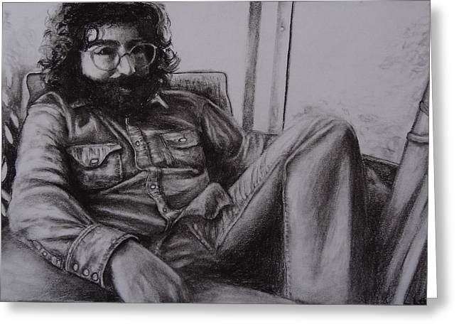 Rollingstone Greeting Cards - Jerry Garcia in 72   Greeting Card by Leandria Goodman