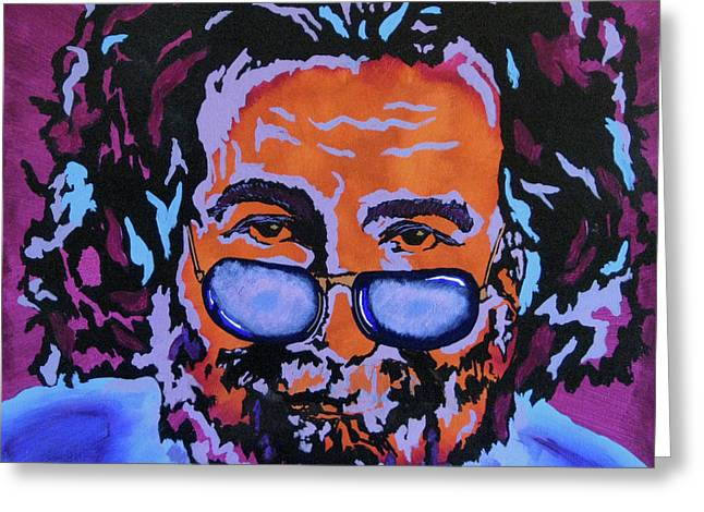 Jerry Garcia-It's A Me Thing Greeting Card by Bill Manson