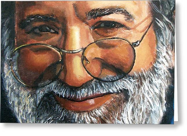 Jerry Garcia Band Greeting Cards - Jerry Garcia Greeting Card by X