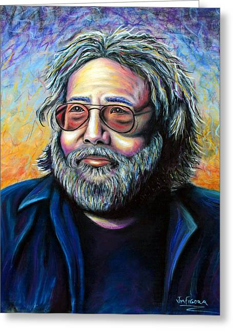 Counterculture Pastels Greeting Cards - Jerry Greeting Card by Jim Figora