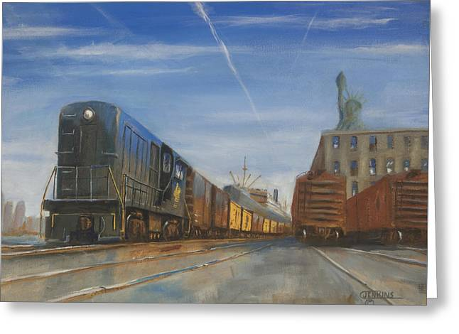 Locomotive Greeting Cards - Jersey Central Lines Greeting Card by Christopher Jenkins