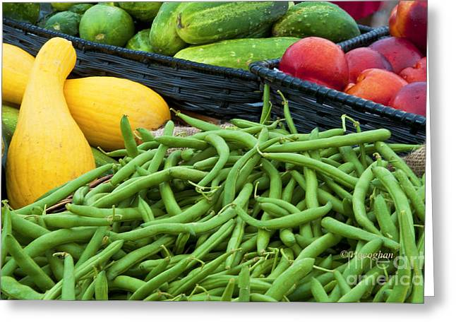 Green Beans Greeting Cards - Jersey Grown For Sale Greeting Card by Regina Geoghan