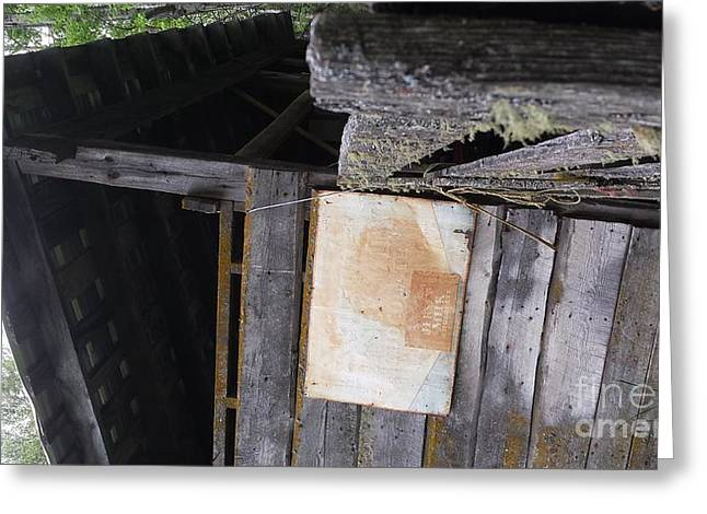 Old Barns Pyrography Greeting Cards - Jersey Milk Chocolate Barn Greeting Card by Cailyn Cave
