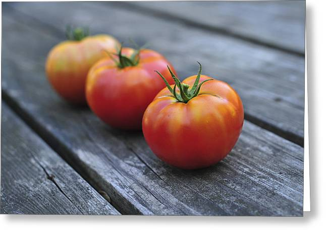 Hostess Greeting Cards - Jersey Tomatoes  Greeting Card by Terry DeLuco