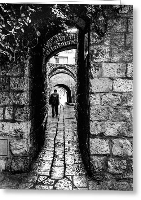 Haist Greeting Cards - Jerusalem Alley Greeting Card by Paul Haist