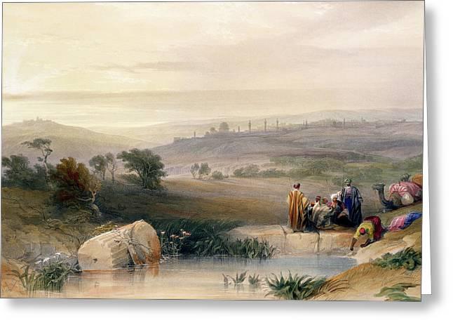 Sunrise Drawings Greeting Cards - Jerusalem, April 1839, Plate 22 Greeting Card by David Roberts