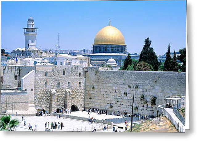 Religious Greeting Cards - Jerusalem, Israel Greeting Card by Panoramic Images