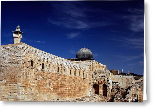 Kobby Dagan Greeting Cards - Jerusalem Greeting Card by Kobby Dagan