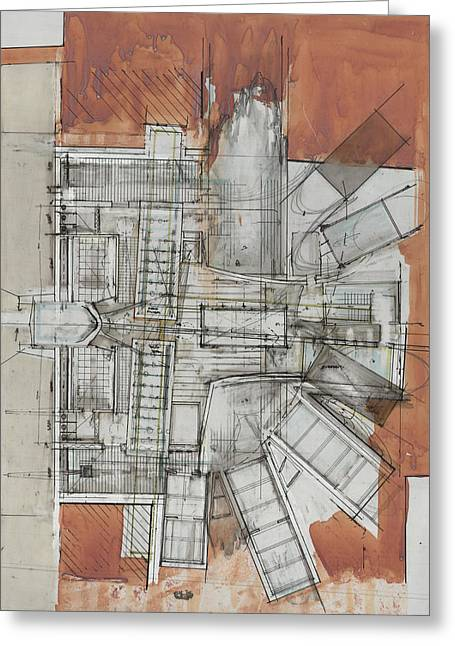 Development Drawings Greeting Cards - Jerusalem Plan Greeting Card by Alan OConnell
