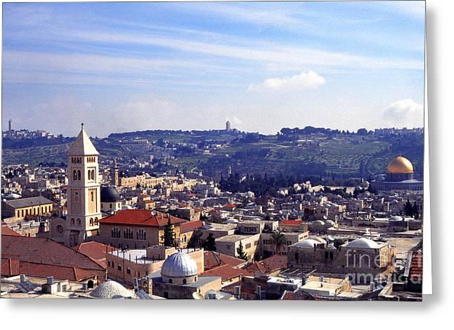 Thomas R Fletcher Greeting Cards - Jerusalem Greeting Card by Thomas R Fletcher