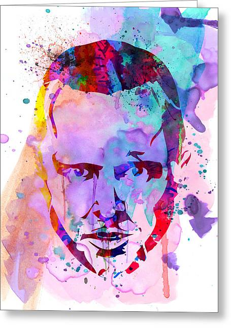 Shows Greeting Cards - Jesse Breaking Bad Watercolor Greeting Card by Naxart Studio