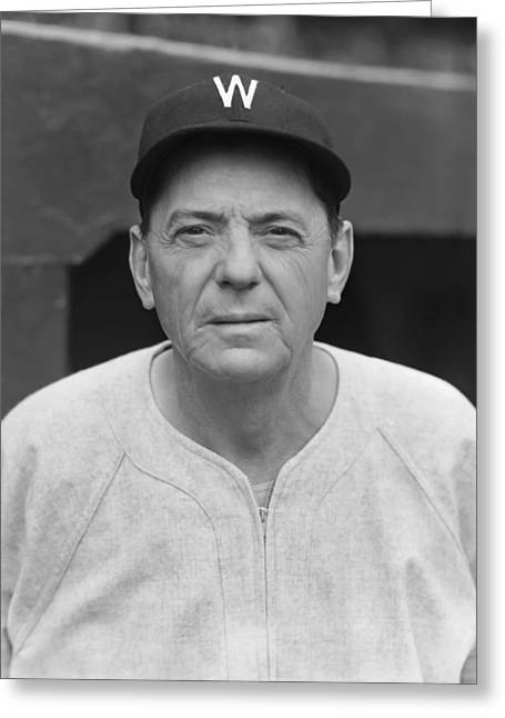 American League Photographs Greeting Cards - Jesse C. Clyde Milan Greeting Card by Retro Images Archive