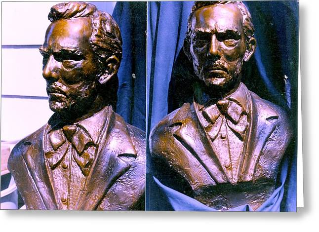 James Sculptures Greeting Cards - Jesse James study Greeting Card by Vincent Von Frese