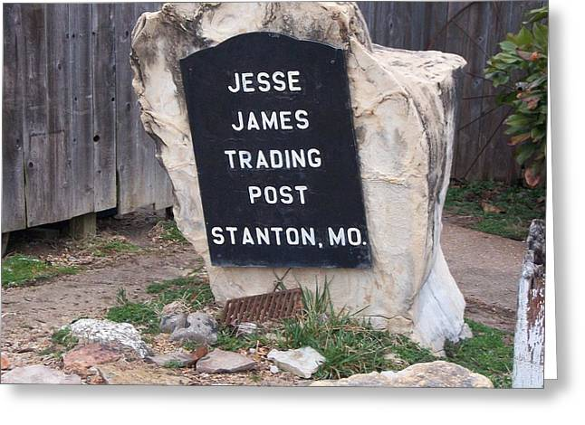 Top Seller Greeting Cards - Jesse James Trading Post Greeting Card by Erica  Darknell