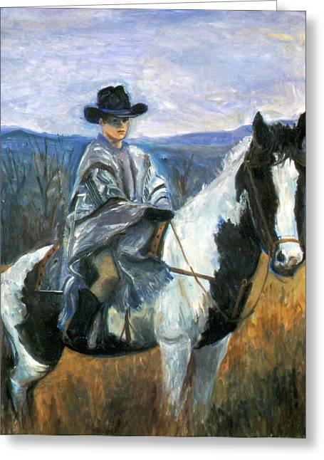 The Hills Greeting Cards - Jesse on Dakota Greeting Card by Ethel Vrana