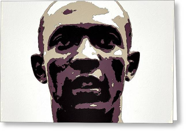 Jesse Owens Poster Art Greeting Card by Florian Rodarte