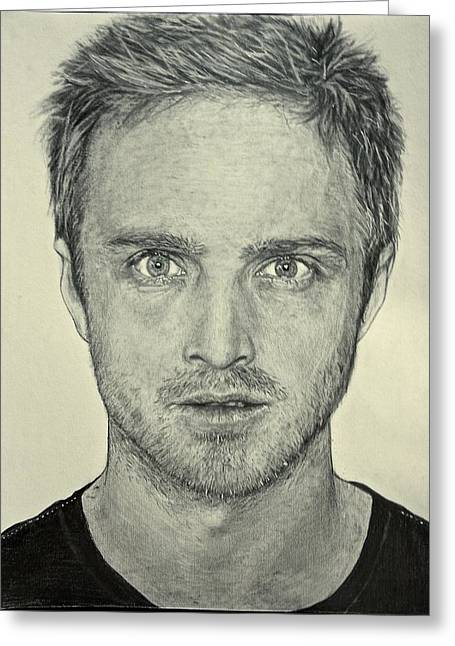 Hyperrealistic Greeting Cards - Jesse Pinkman Greeting Card by Rebekah Williamson