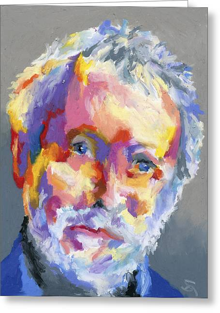 Impressionist Style Greeting Cards - Jesse Winchester Greeting Card by Stephen Anderson