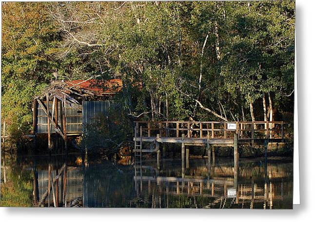 Crimson Tide Greeting Cards - Jesses Boat House Greeting Card by Michael Thomas