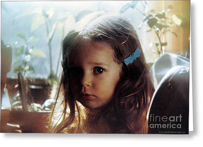 Incarnation Greeting Cards - Jessica with Angels Greeting Card by Gerald MacLennon