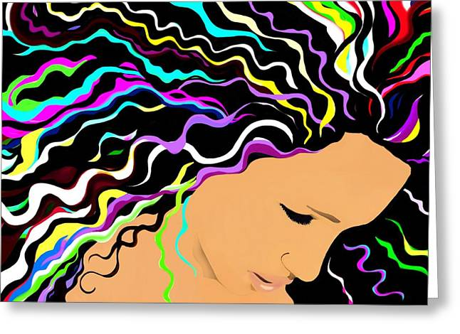 African-american Digital Greeting Cards - Jessica Greeting Card by Cindy Edwards