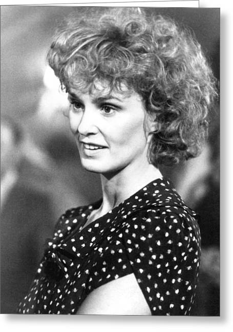 Jessica Photographs Greeting Cards - Jessica Lange in Country  Greeting Card by Silver Screen