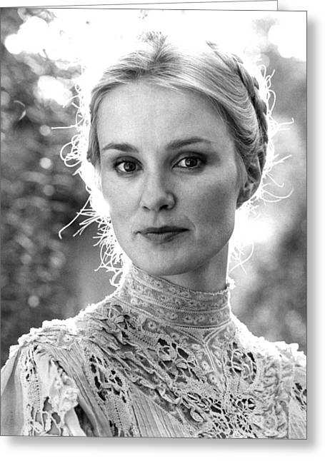 Jessica Photographs Greeting Cards - Jessica Lange in Frances  Greeting Card by Silver Screen