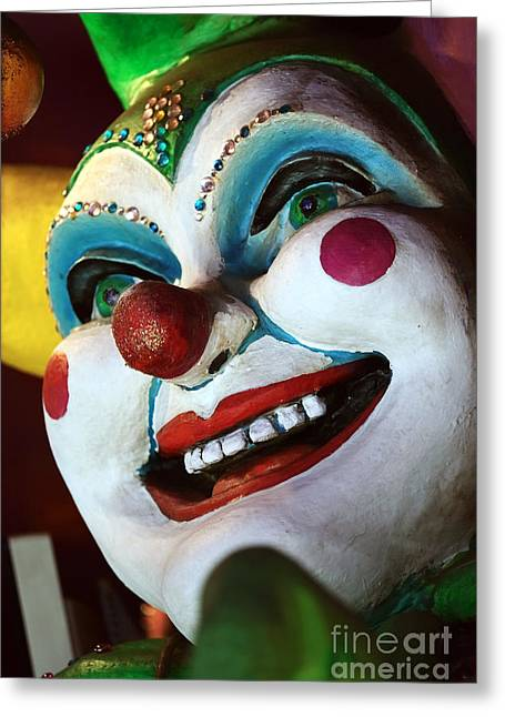 Jester Always Smiles Greeting Card by John Rizzuto