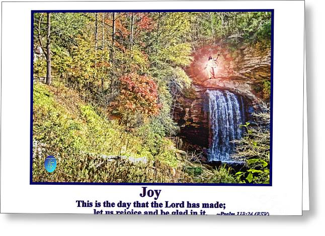 Smiling Jesus Digital Greeting Cards - Jesus Blessing Colorful Autumn Greeting Card by John K Giarratano