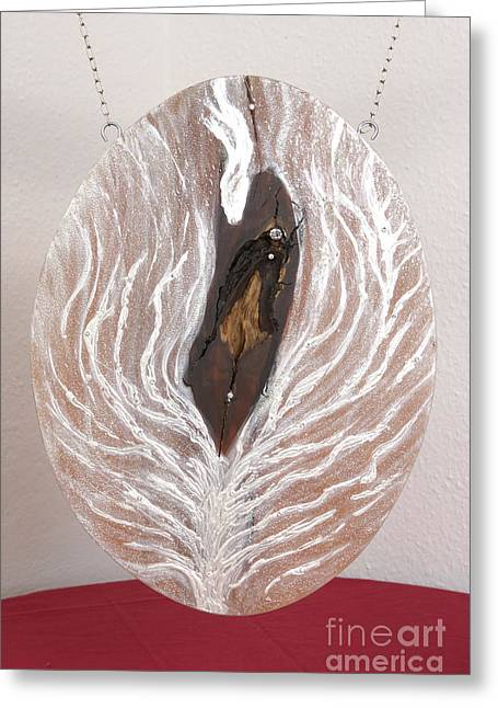 Christ Reliefs Greeting Cards - Jesus Christ blessings and the life tree Greeting Card by Heidi Sieber