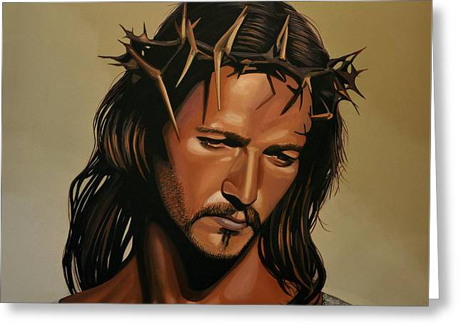 Singer Paintings Greeting Cards - Jesus Christ Superstar Greeting Card by Paul Meijering