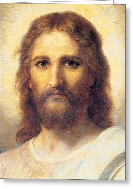 Jesus Christ Greeting Card by Carl Bloch