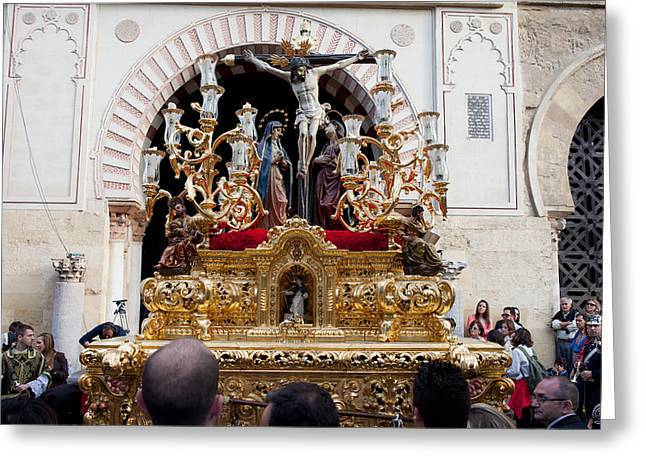 Cordoba Greeting Cards - Jesus Christ on the Cross in Cordoba Greeting Card by Artur Bogacki