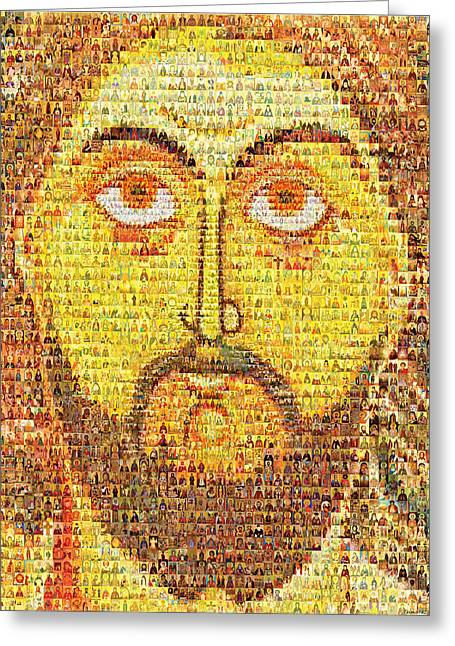St Nicholas Icon Greeting Cards - Jesus Christ Pantokrator  Greeting Card by Temur Lursmanashvili