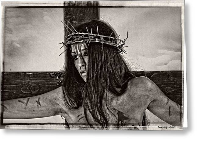 Kreuz Greeting Cards - Jesus Christ Portrait Greeting Card by Ramon Martinez