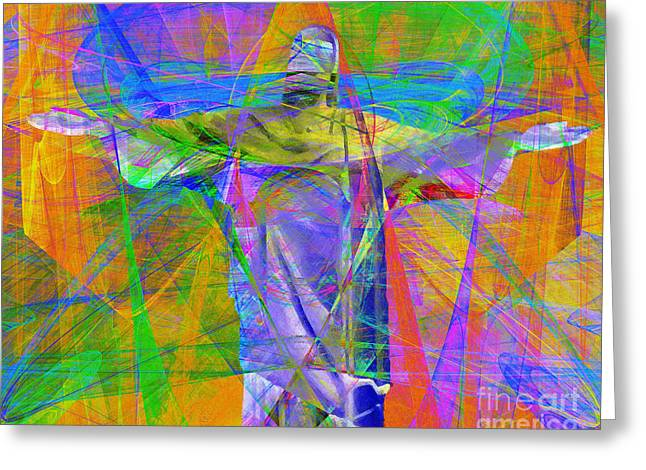 Bible Digital Art Greeting Cards - Jesus Christ Superstar 20130617 horizontal Greeting Card by Wingsdomain Art and Photography