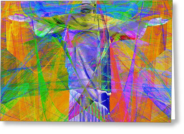 Bible Digital Art Greeting Cards - Jesus Christ Superstar 20130617 square Greeting Card by Wingsdomain Art and Photography
