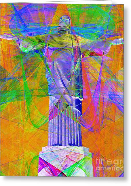 Bible Digital Art Greeting Cards - Jesus Christ Superstar 20130617 Greeting Card by Wingsdomain Art and Photography