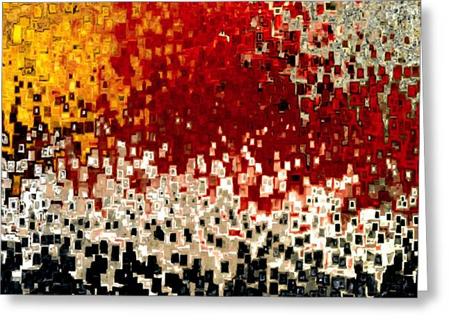 Red Abstracts Greeting Cards - Jesus Christ The Captain of Salvation Greeting Card by Mark Lawrence