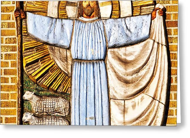 Jesus Christ the Shepherd Greeting Card by Antony McAulay